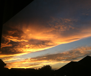 beautiful, sunset, and clouds image