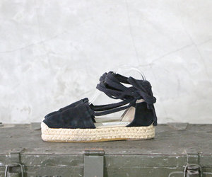 sandals, espadrilles, and black espadrilles image
