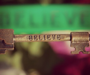 believe, flowers, and green image
