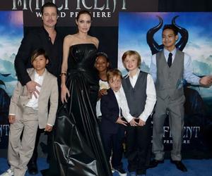 Angelina Jolie, vivienne jolie-pitt, and zahara jolie-pitt image