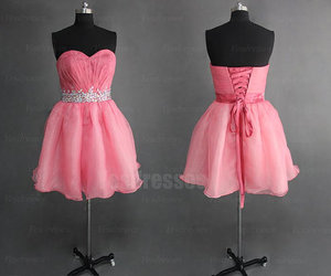 prom dresses, short prom dresses, and pink prom dresses image