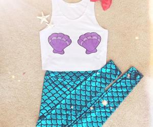 mermaid, fashion, and outfit image