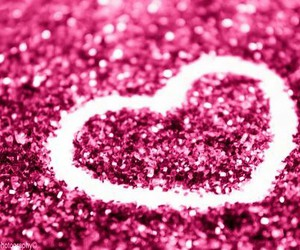 heart, glitter, and pink image