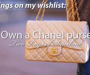 chanel, purse, and wish image