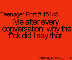 teenager post, true, and conversation image