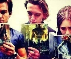 lily collins, book, and Kevin Zegers image