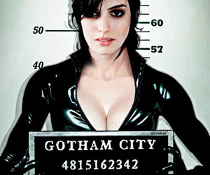 Anne Hathaway and cat woman image