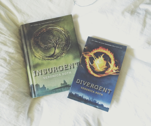 books, fantasy, and divergent image