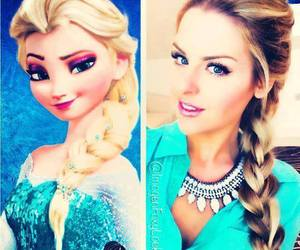 frozen, hair, and makeup image