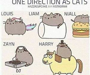one direction, cat, and niall image