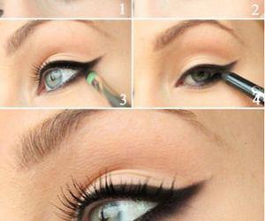 makeup, eyeliner, and eye image