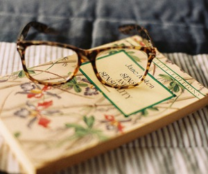 book, glasses, and vintage image