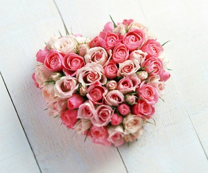flowers pink heart image