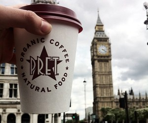 Big Ben, coffee, and healthy image