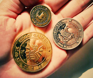 harry potter, galleon, and money image