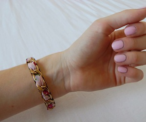 baby pink, beautiful, and bracelet image