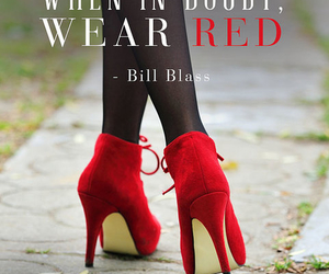 quote, red, and shoes image