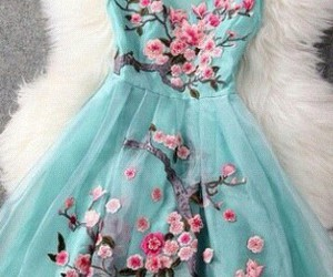dress, feeling, and flowers image