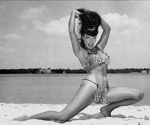 Bettie Page and queen of pin up image
