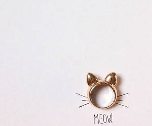meow, cat, and ring image