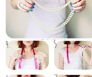 diy, pearls, and necklace image