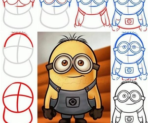 drawing, minions, and tutorial image