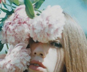 flower, girl, and pale image
