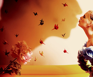flowers, kiss, and shadow image