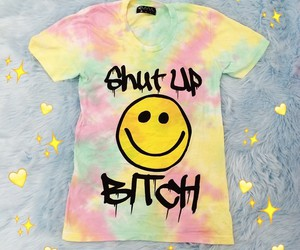 bitch, smiley, and tiedye image