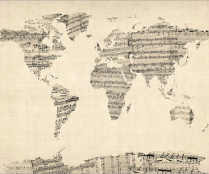 map, music, and world image
