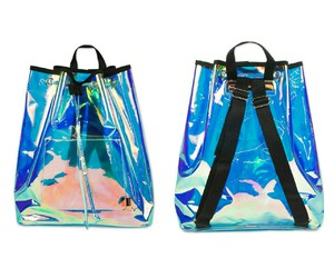 bag, blue, and holographic image