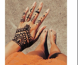 tattoo, hipster, and henna image