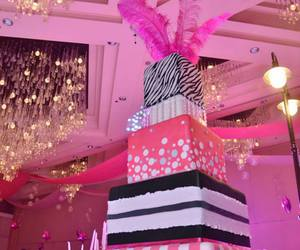 birthday, cake, and pink and black image
