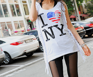 america, heart, and new york image