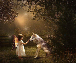 wolf and fairy image