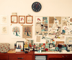 desk, decor, and room image