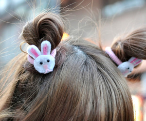 hair, bunny, and cute image