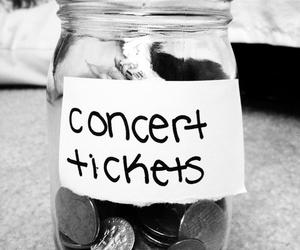 concert, money, and ticket image