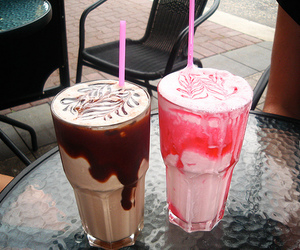 chocolate, drink, and strawberry image