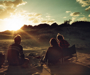 friends, sun, and photography image
