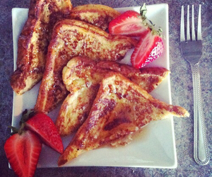 food, strawberry, and french toast image