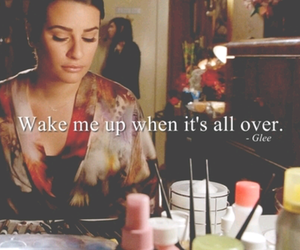 glee, lea michele, and quote image