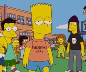 simpsons, bart, and grunge image