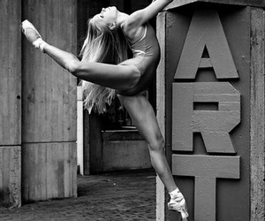 art, black & white, and ballet image