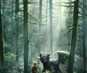 hiccup, how to train your dragon, and toothless image