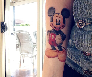 disney, mickey, and tattoo image