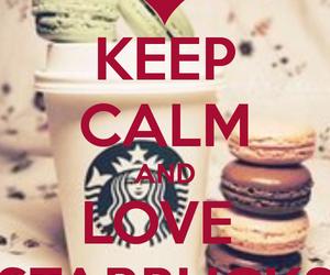 starbucks, keep calm, and coffee image