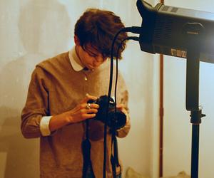 boy, camera, and photography image