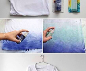 diy, blue, and t-shirt image
