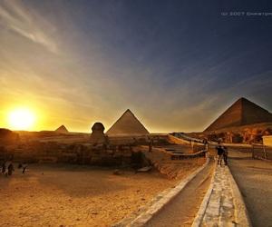 pyramids, sun, and view image